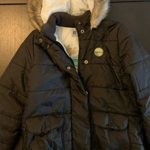 Roxy Puffer Jacket with Faux Fur Lined Hood